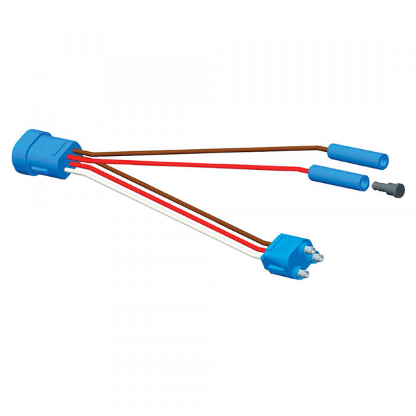 Midturn Adapter Pigtail, Adapter, Female-to-Female Pin, (2) Additional Standard .180 Receptacles