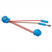 Adaptateur connecteur, Adaptateur, Connecteur mâle à mâle, (2) Prises .180 standard supplémentaires vignette