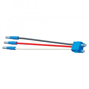 "Stop Tail Turn Three-Wire Plug-In Pigtails for Female Pin Lights, 8"" Long, Ground Return, Slim-Line .180 Male"