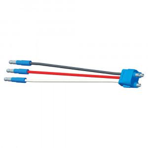 """Luz de frenado/trasera/direccional con tres cables, conector flexible para luces con clavija hembra, 8"""" de largo, retorno de tierra, Macho delgado  .180"""
