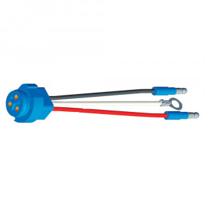 "66841 - Stop Tail Turn Three-Wire Plug-In Pigtails for Male Pin Lights, 8"" Long, Chassis Ground, Slim-Line .180 Male"