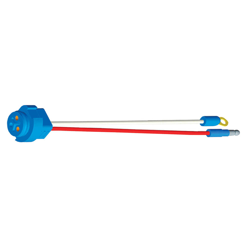 """Stop Tail Turn Two-Wire Plug-In Pigtails for Male Pin Lights, 10"""" Long, Chassis Ground, Slim-Line .180 Male"""