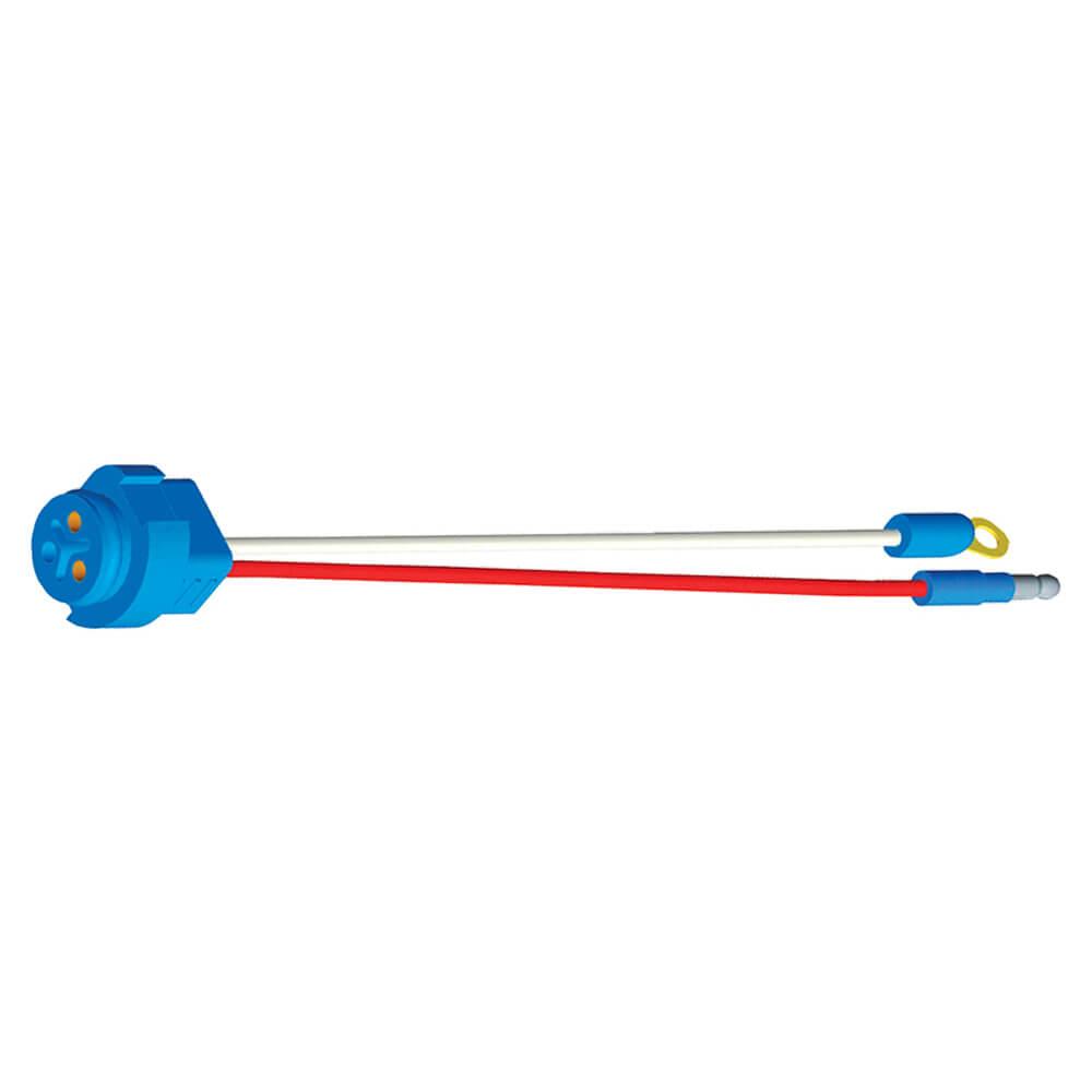 Connecteurs à deux fils enfichables arrêt/arrière/clignotant pour feux à connecteur mâle, Longueur 10 po, Mise à la terre de carrosserie, Mince 0,180 mâle