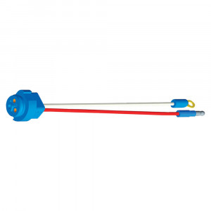 "Stop Tail Turn Two-Wire Plug-In Pigtails for Male Pin Lights, 10"" Long, Chassis Ground, Slim-Line .180 Male"