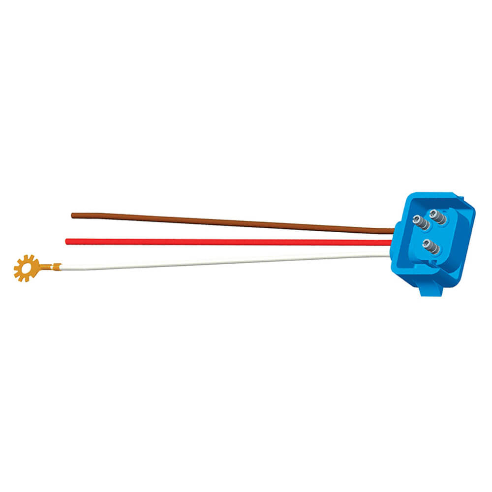 "66843 - Stop Tail Turn Three-Wire 90º Plug-In Pigtails for Female Pin Lights, 18"" Long, Chassis Ground, Blunt Cut Wires, Star Ring Terminal"