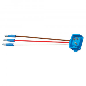 "66844 - Stop Tail Turn Three-Wire 90º Plug-In Pigtails for Female Pin Lights, 18"" Long, Ground Return, Slim-Line .180 Male"