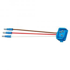 """66844 - Luz de frenado/trasera/direccional con tres cables, 90º, conector flexible para lámparas con clavija hembra, 18"""" de largo, retorno de tierra, Macho delgado  .180"""