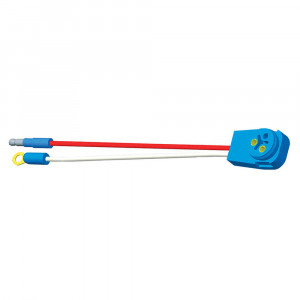 "Stop Tail Turn Two-Wire 90° Plug-In Pigtails for Male Pin Lights, 10"" Long, Chassis Ground, Slim-Line .180 Male"