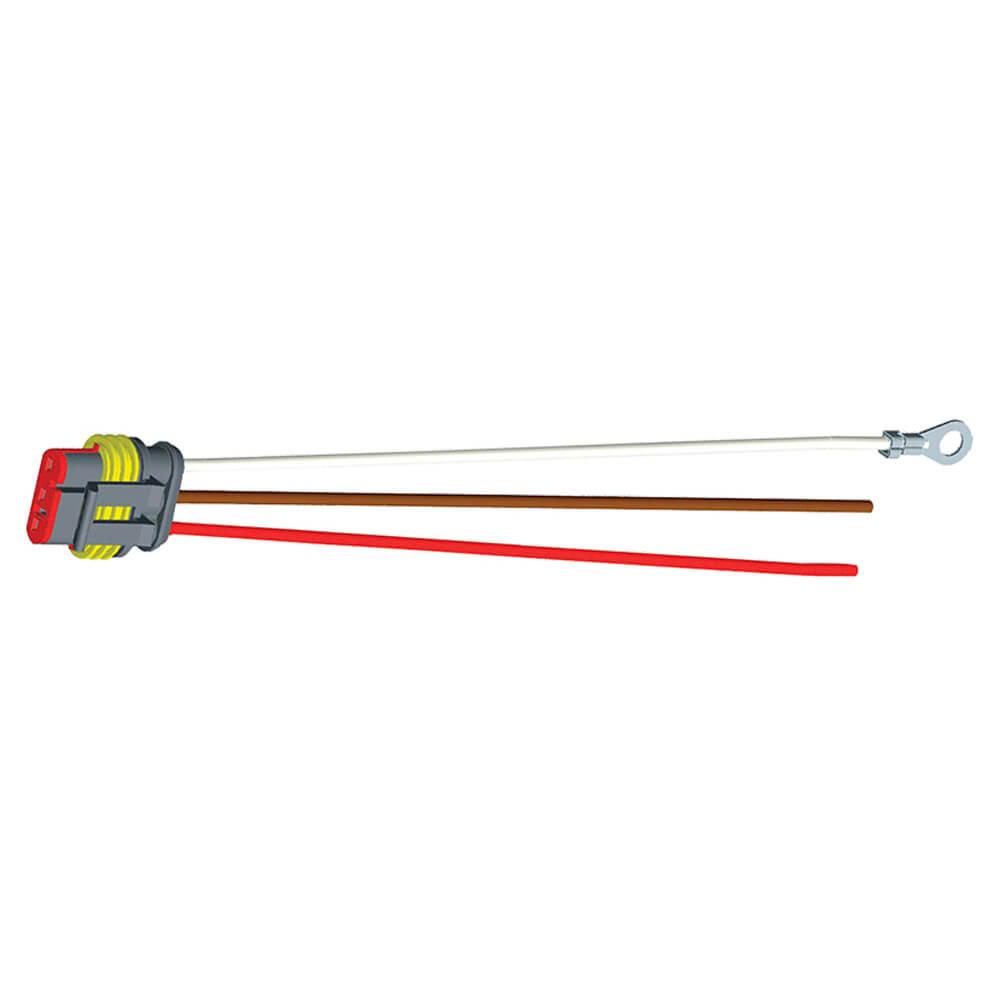 """Conector flexible de cubierta dura, 11"""" de largo, Masa del chasis, cables despuntados, Función doble"""