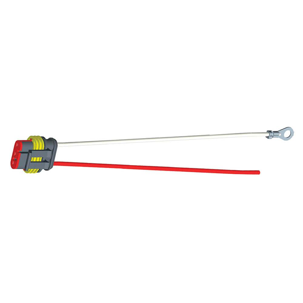 """Conector flexible de cubierta dura, 11"""" de largo, Masa del chasis, cable despuntado, Una función"""