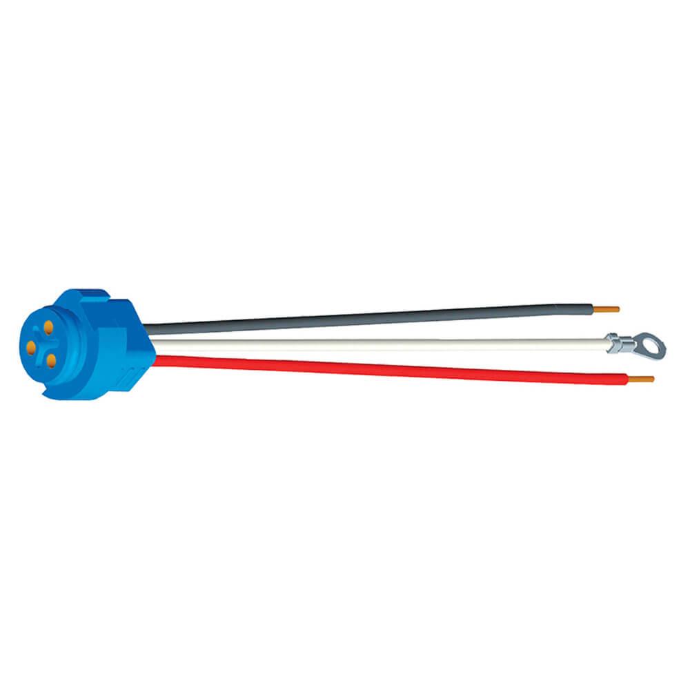 """67002 - Luz de frenado/trasera/direccional con tres cables, conector flexible para luces con clavija macho, 11"""" de largo, Masa del chasis, cable despuntado"""
