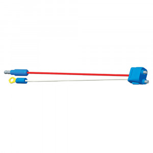 "Two-Wire Plug-In Pigtails for Female Pin Lights, 10 1/4"" Long, Chassis Ground, Standard .180 Male, Straight"