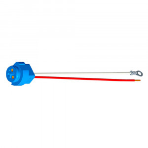 "Stop Tail Turn Two-Wire Plug-In Pigtails for Male Pin Lights, 11"" Long, Chassis Ground, Blunt Cut Wire"