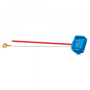 "Two-Wire Plug-In Pigtails for Female Pin Lights, 10"" Long, Chassis Ground, Blunt Cut, 90° Plug"