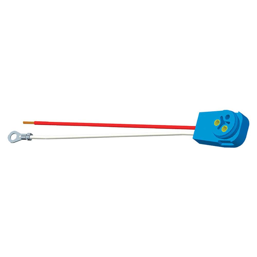 """Luz de frenado/trasera/direccional con dos cables, conector flexible de 90° para lámparas con clavija macho, 11"""" de largo, Masa del chasis, cables despuntados"""