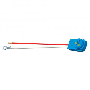 "Stop Tail Turn Two-Wire 90° Plug-In Pigtails for Male Pin Lights, 11"" Long, Chassis Ground, Blunt Cut Wires"
