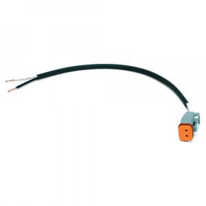 Connecteur Deutsch,12 po de longueur, fils coupés droits