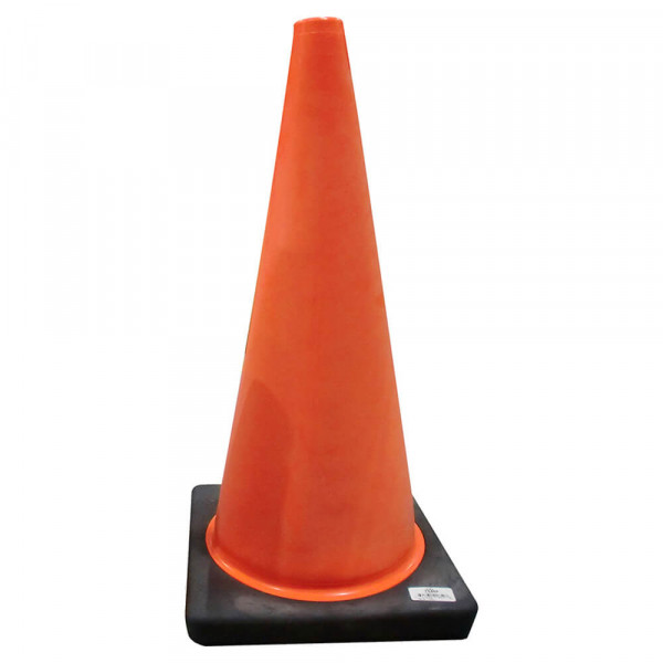 Large, orange traffic cone
