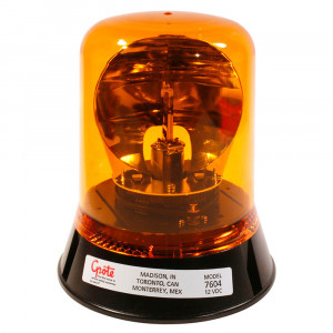 Belt Drive Rotating Beacon, Permanent Mount, Yellow