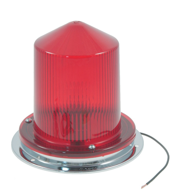 Juego de lámpara de advertencia intermitente auxiliar económica de 360º, Rojo