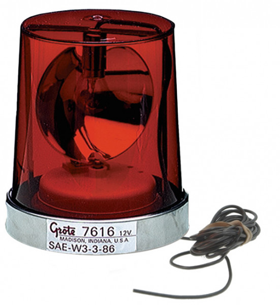 Econolite con reflector giratorio, Montaje permanente, Rojo