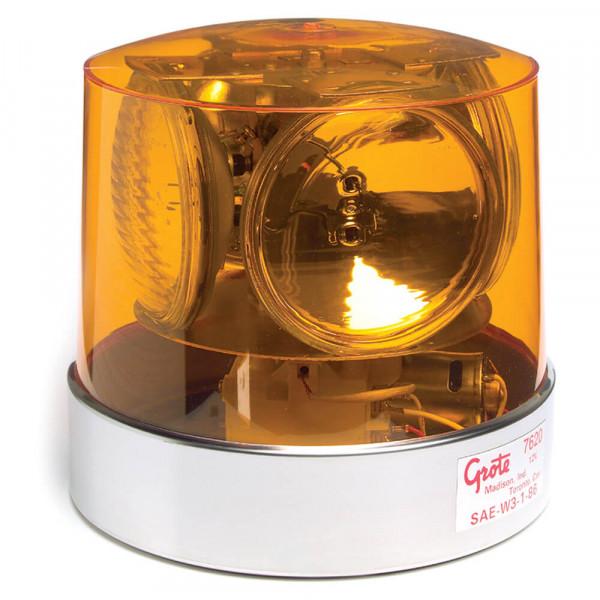 Baliza giratoria compacta con cuatro faros sellados, Amarillo