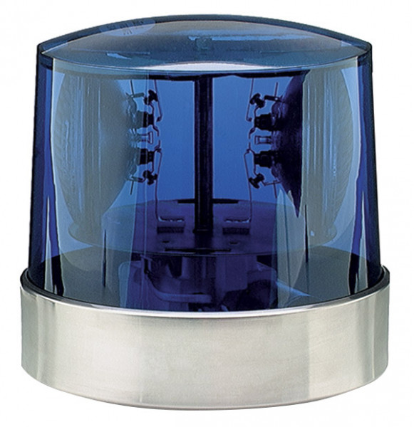 Two Sealed-Beam Roto-Beacon, Blue, 24V