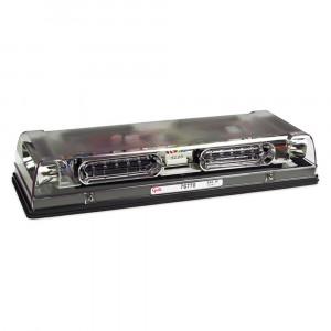 Mini barre de feux à DEL à profil bas de 17 po, Fonction double, Installation permanente, Lentille transparente, Ambre/bleu