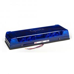 Mini barre de feux à DEL à profil bas de 17 po, Bleu, Installation permanente
