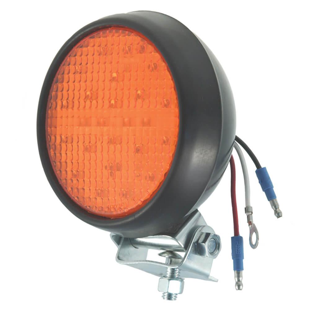 Luz LED estroboscópica con carcasa de goma, Amarillo