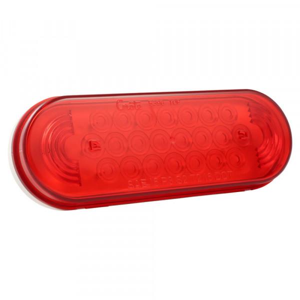 Red Oval LED Strobe Light