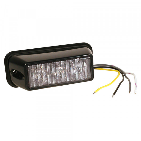 LED Directional Warning Light, Clear