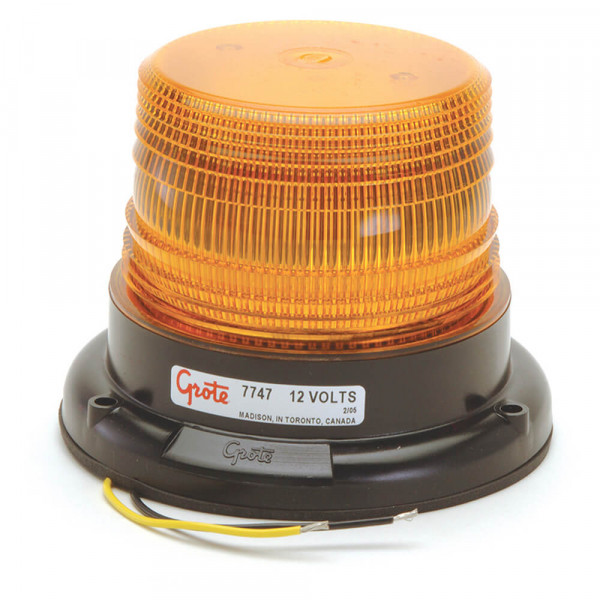 LED Mighty Mini Yellow Warning Strobe Light.