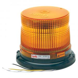 LED-Blitzleuchte mit mittlerem Profil, Klasse II, Bernstein