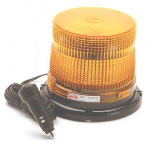 LED-Blitzleuchte mit mittlerem Profil, Klasse II, Magnetbefestigung mit Adapter für Zigarettenanzünder, Bernstein