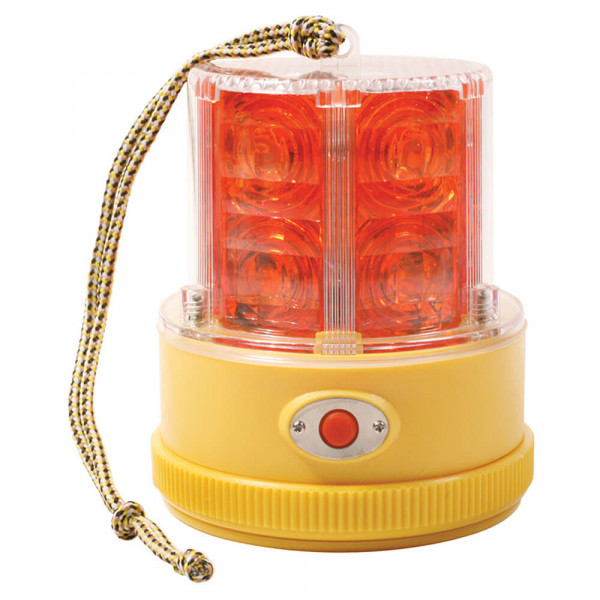 360° Portable Battery Operated LED Warning Light, Red