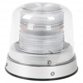 White LED Beacon with Clear Dome