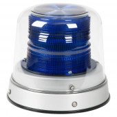 Blue LED Beacon with Clear Dome