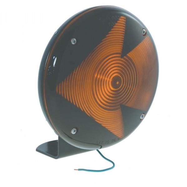 luz de una sola cara,7, moldeada, conector flexible con terminal, lente con flecha, amarillo