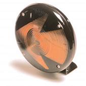 7 single face light blunt cut pigtail arrow lens amber