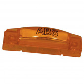 supernova thin line led clearance marker light abs yellow