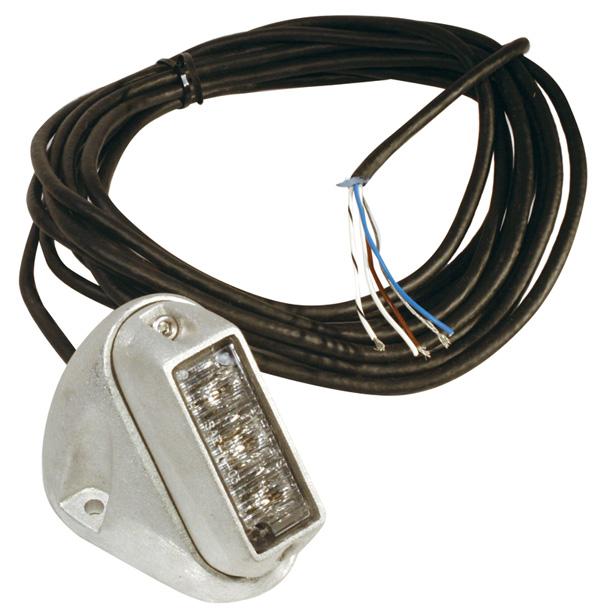 Luz LED de quitanieves con forma de alerón