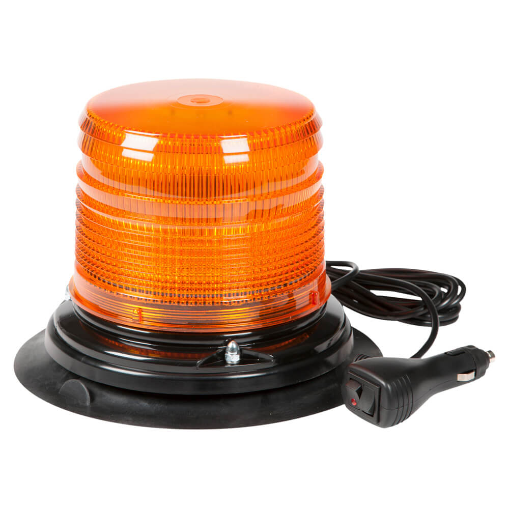 Amber Vacuum Mount LED Beacon