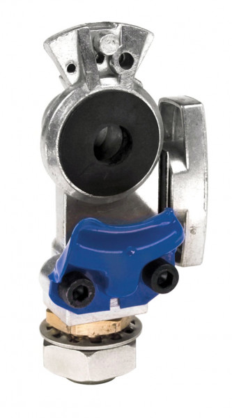 Gladhands, Knob Style, Bulkhead, Shut-Off Service, Blue
