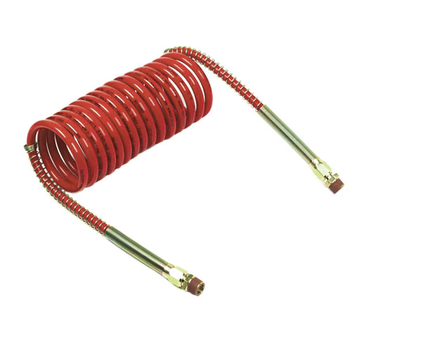 Red Coiled Air Hose