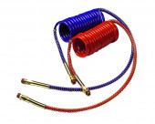 """Coiled Air, Working Length 15', Leads 12"""" & 40"""", 2pk"""