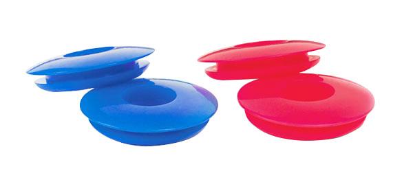 Dichtungen, Polyurethan, Groß, Rot und Blau, 4er-Pack