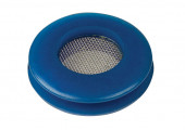 Blue polyurethane seal with built in filter screen Miniaturbild