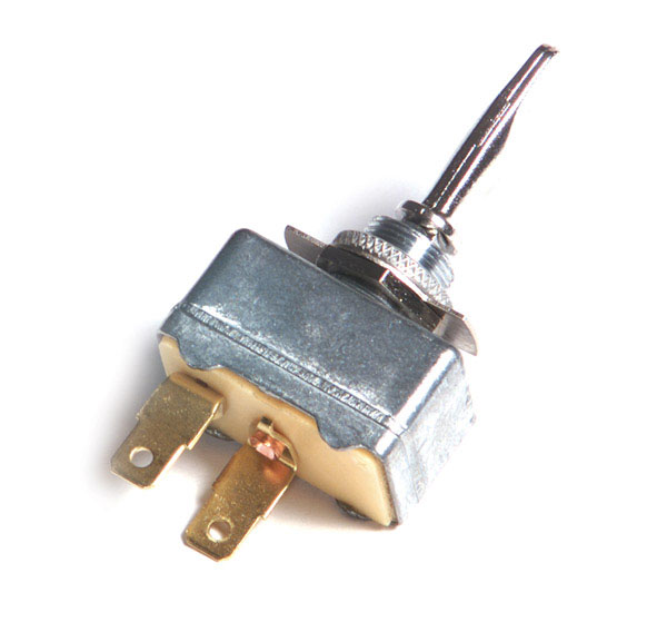 "Extra Heavy Duty On/Off 2 Blade 1"" x 15/32"" 30 Amp Toggle Switch"