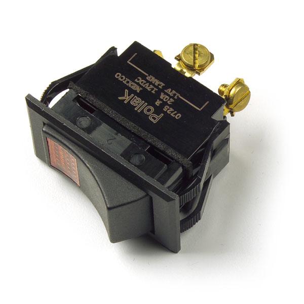 Yellow 3 Screw Illuminated Rocker Switch